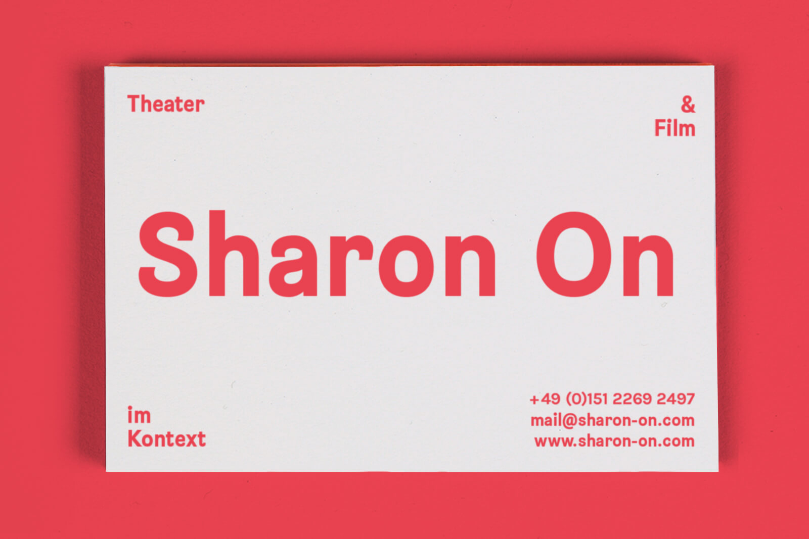 Business Stationery For Applied Theatre Practitioner Sharon