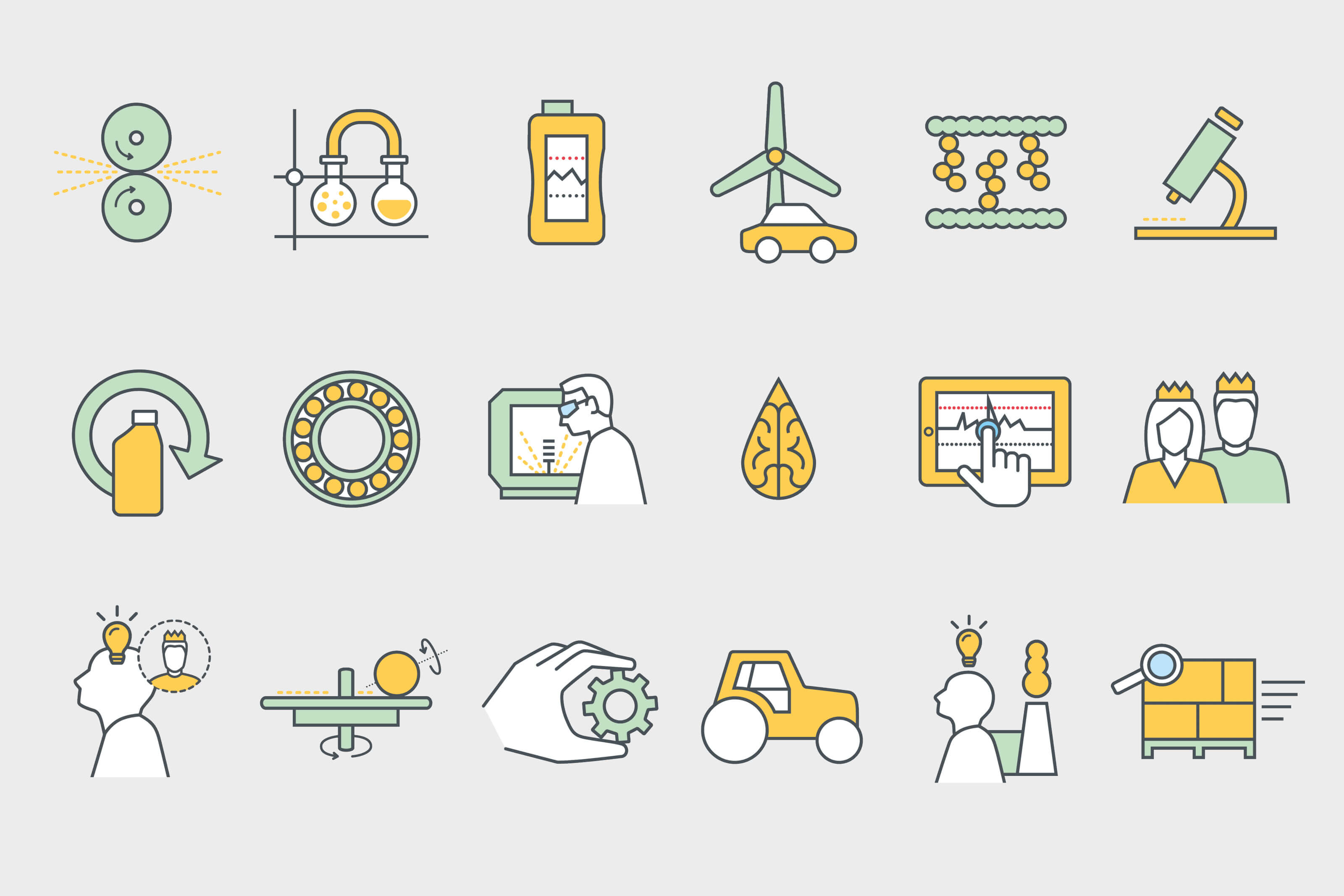 Pictograms for inoviga