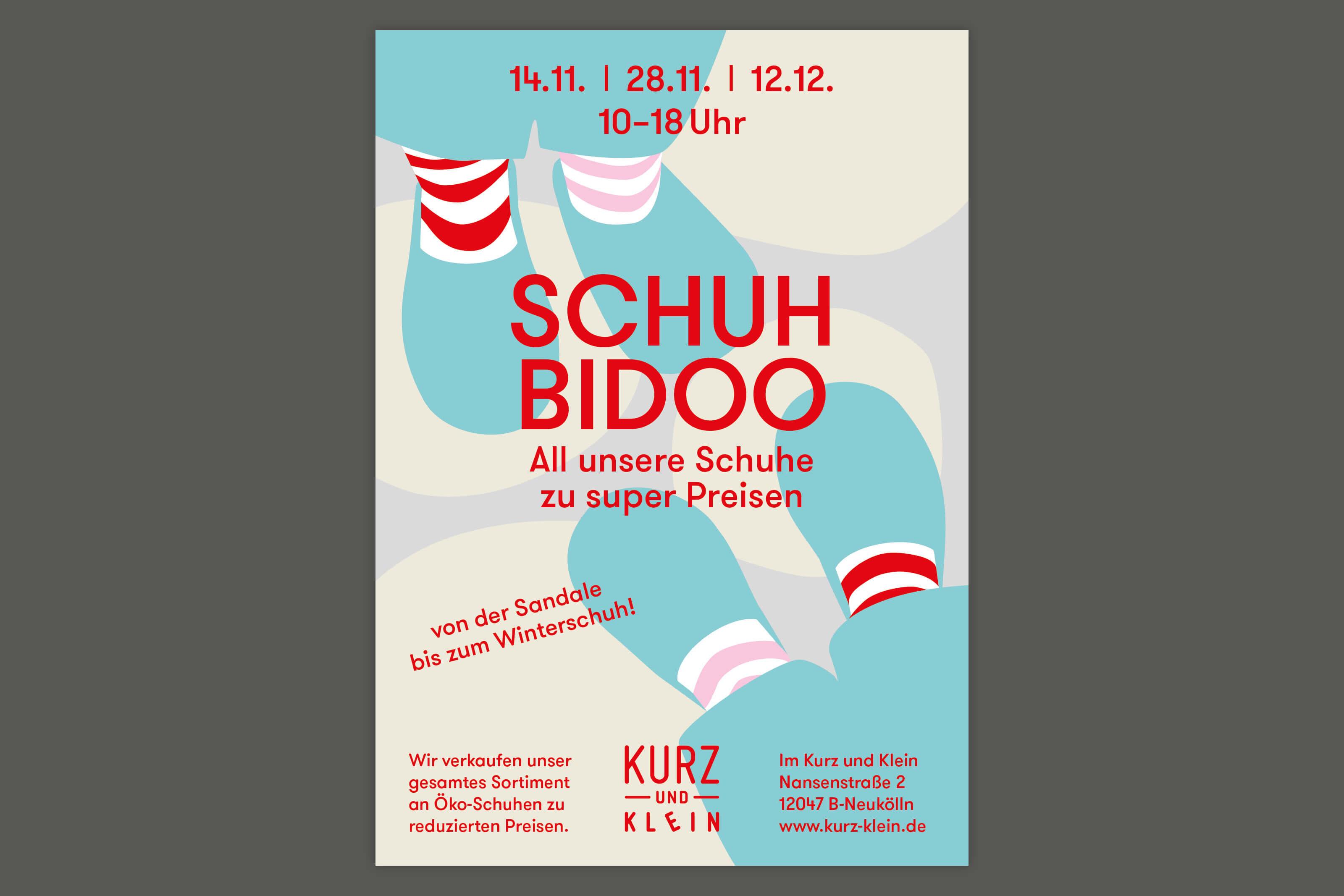Illustration on a poster for the kids store Kurz und Klein